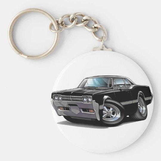 1966 Olds Cutlass Black Car Keychain