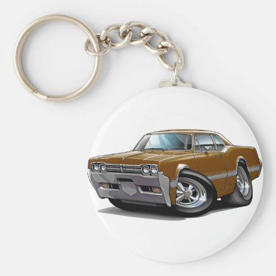 1966 Olds Cutlass Brown Car Keychain
