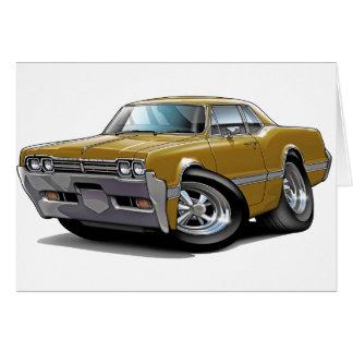 1966 Olds Cutlass Gold Car Card