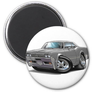1966 Olds Cutlass Grey Car 2 Inch Round Magnet