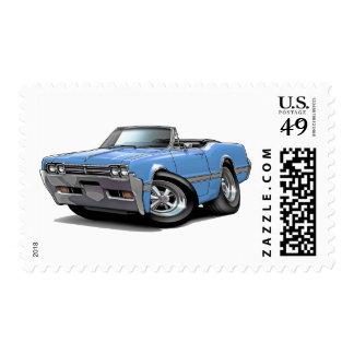 1966 Olds Cutlass Lt Blue Convertible Postage