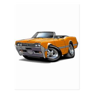 1966 Olds Cutlass Orange Convertible Postcard