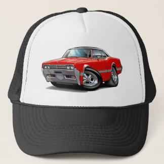 1966 Olds Cutlass Red-Black Top Car Trucker Hat