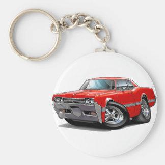 1966 Olds Cutlass Red Car Basic Round Button Keychain