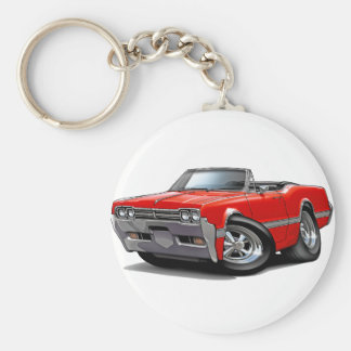 1966 Olds Cutlass Red Convertible Keychain