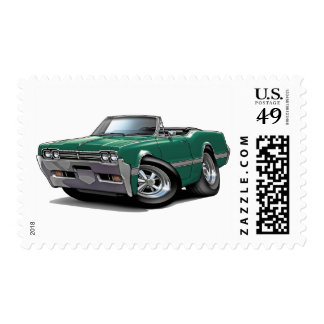 1966 Olds Cutlass Teal Convertible Postage