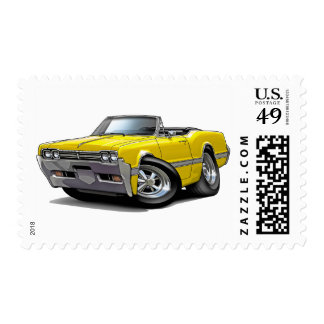 1966 Olds Cutlass Yellow Convertible Postage
