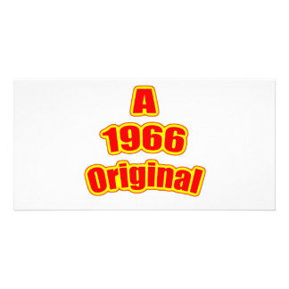 1966 Original Red Customized Photo Card