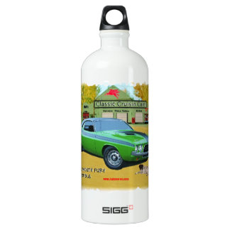 1966_Plymouth_Fury Aluminum Water Bottle