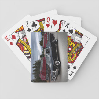 1966 Pontiac GTO Muscle Car Locomotive Train Playing Cards