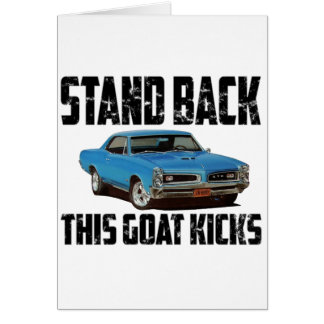 1966 Pontiac GTO Stand Back Card