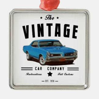 1966 Pontiac GTO Vintage Garage Metal Ornament