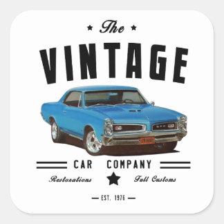 1966 Pontiac GTO Vintage Garage Square Sticker
