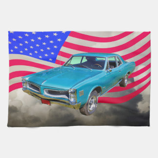 1966 Pontiac Le Mans And American Flag Towels