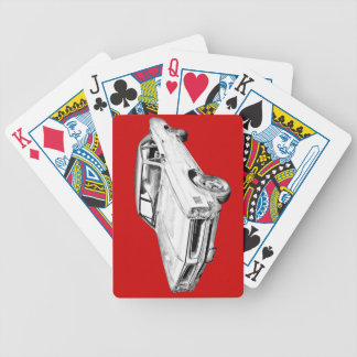 1966 Pontiac Lemans Car Illustration Bicycle Playing Cards
