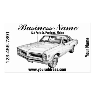 1966 Pontiac Lemans Car Illustration Business Card