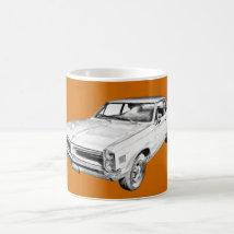 1966 Pontiac Lemans Car Illustration Coffee Mug