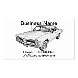 1966 Pontiac Lemans Car Illustration Double-Sided Standard Business Cards (Pack Of 100)
