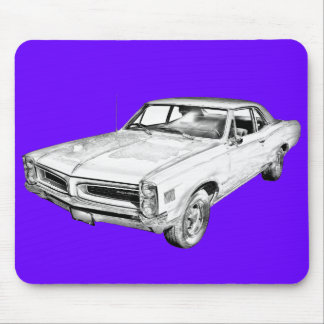1966 Pontiac Lemans Car Illustration Mouse Pad