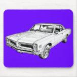 1966 Pontiac Lemans Car Illustration Mousepad