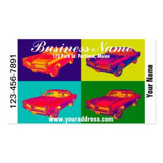 1966 Pontiac Lemans Car Pop Art Business Card