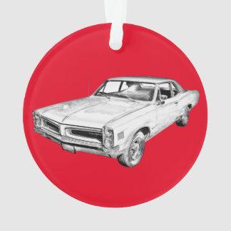 1966 Pontiac Lemans Muscle Car Illustration Ornament