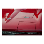 1966 Red Corvette Sting Ray Poster