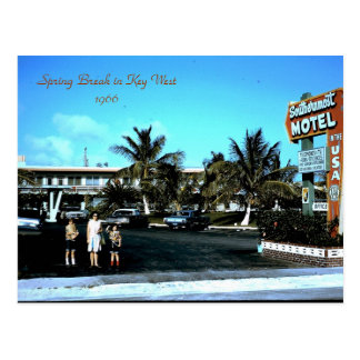 1966 Southernmost Motel Key West, Spring Break ... Postcard