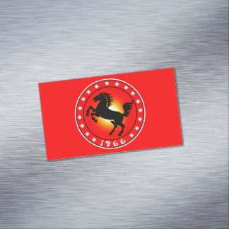 1966 Year of the Horse Business Card Magnet