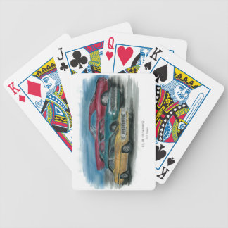 1967, 1968, 1969 naipes clásicos de los camaros baraja cartas de poker