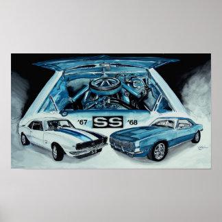 1967 1968 Chevy Camaro SS ART DESIGN by VinnyFish Poster