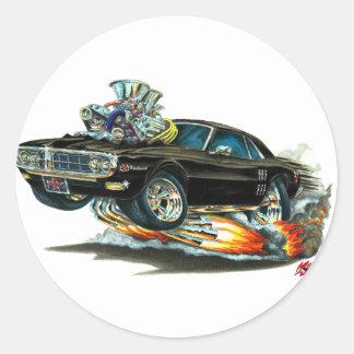 1967-68 Firebird Black Car Classic Round Sticker