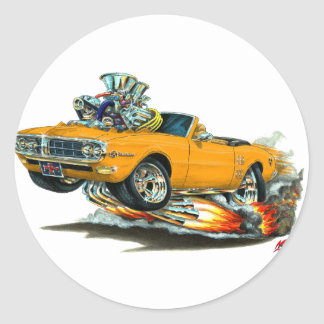 1967-68 Firebird Orange Convertible Classic Round Sticker