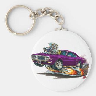 1967-68 Firebird Purple Car Basic Round Button Keychain