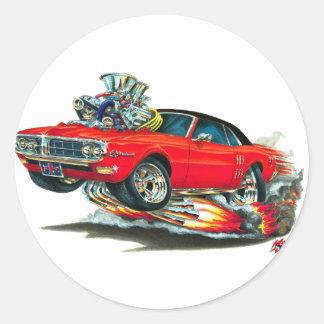 1967-68 Firebird Red-Black Top Classic Round Sticker