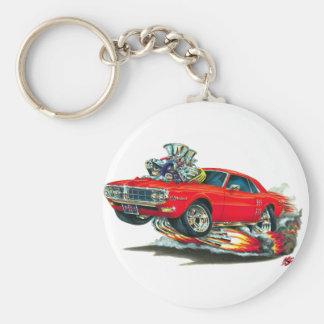 1967-68 Firebird Red Car Basic Round Button Keychain