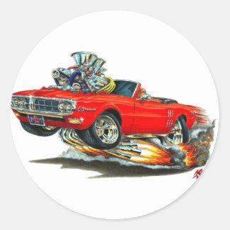 1967-68 Firebird Red Convertible Classic Round Sticker