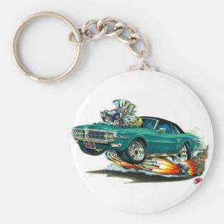 1967-68 Firebird Teal-Black Top Basic Round Button Keychain