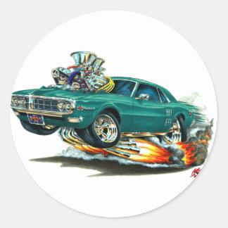 1967-68 Firebird Teal Car Classic Round Sticker