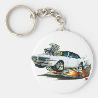1967-68 Firebird White-Black Top Keychain