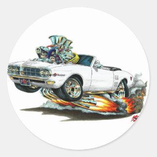 1967-68 Firebird White Convertible Classic Round Sticker