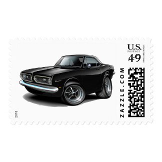 1967-69 Barracuda Black Coupe Postage Stamp