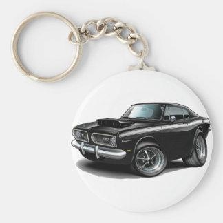 1967-69 Barracuda Black-White Car Key Chains