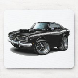 1967-69 Barracuda Black-White Car Mouse Pad
