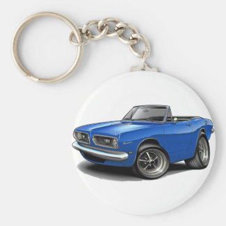 1967-69 Barracuda Blue Convertible Key Chain