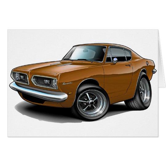 1967-69 Barracuda Brown Car Card