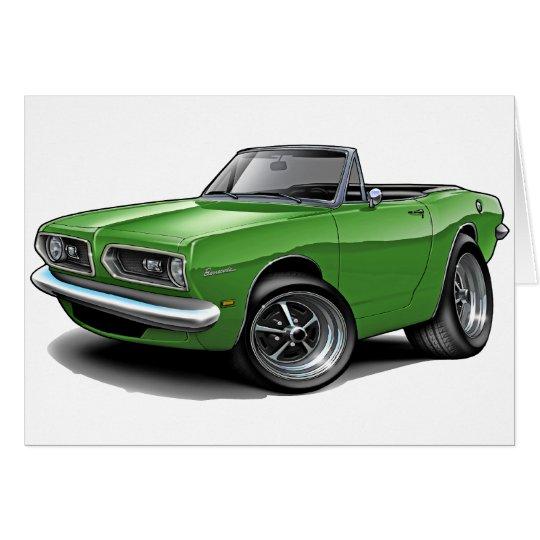 1967-69 Barracuda Green Convertible Card