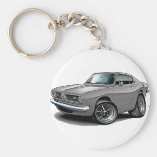 1967-69 Barracuda Grey Car Keychain