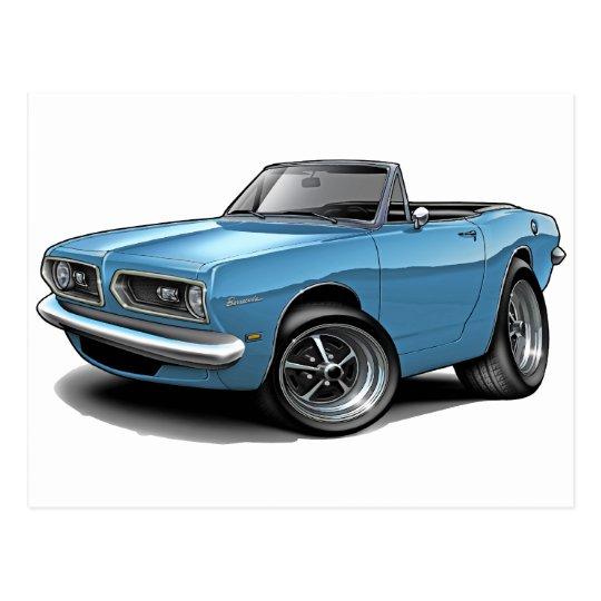 1967-69 Barracuda Lt Blue Convertible Postcard
