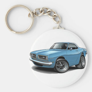 1967-69 Barracuda Lt Blue Coupe Keychain